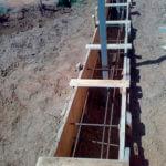Ленточный фундамент под забор закзать
