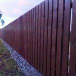 Забор из деревянного штакетника ЗАказать с монтажом
