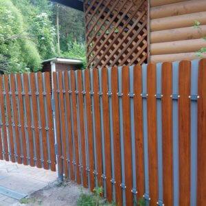 Забор из штакетника под ключ