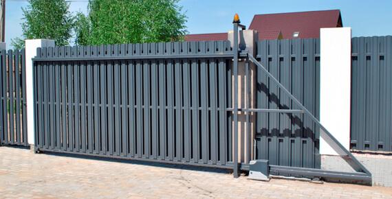 Откатные ворота под ключ екатеринбург
