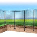 Забор из рабицы на сваях