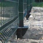Винтовые сваи с забором из 3 д сетки