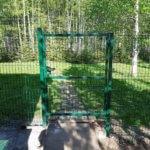 Забор 3д в пейзаже