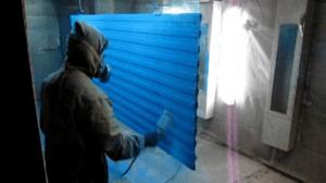 Покраска профлиста в цехе