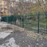 Сварной забор зеленый