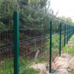 Забор 3д в пейзаже у леса
