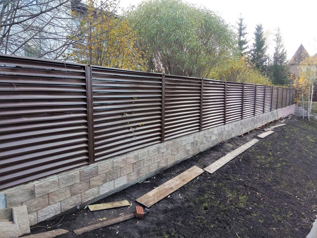 Забор -жалюзи
