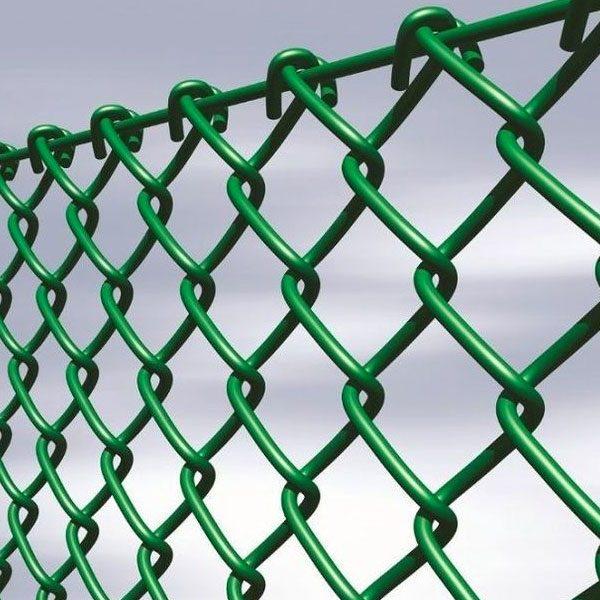 Забор из сетки-рабицы ПВХ