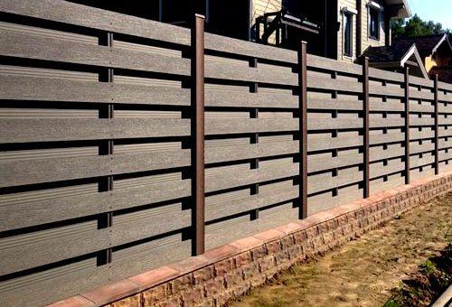 Забор из панелей ДПК