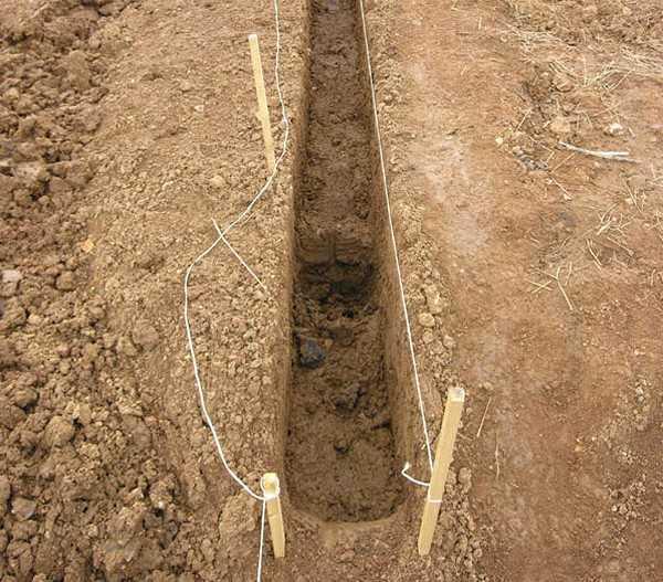 Как правильно копать траншеи под забор